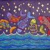 Fish Dance on a Starry Night