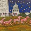 Patriot Zebras Dance on the Mall